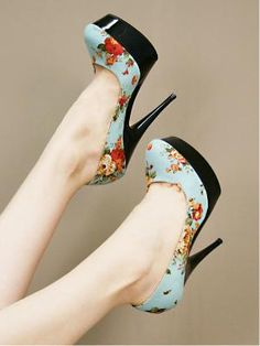blue spring stilettos