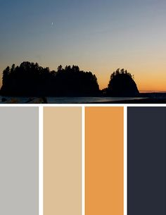 I really like the grey and orange colors, maybe I will paint my bedroom those