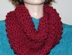 Hand Knit Outlander Inspired Infinity Cowl by MadMadameHatter