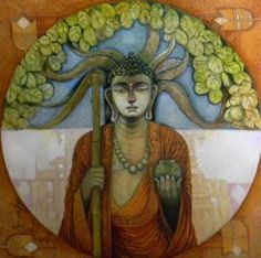 Buddha Painting By Arun Kumar Samadder