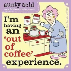 Out of coffee experience