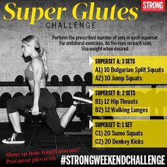 Superset glutes workout