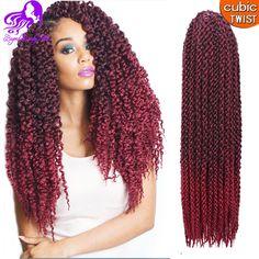 Now available @Hawtinhair.com 3D TM Cubic Twist...  Check it out   http://hawtinhair.com/products/3d-tm-cubic-twist-crochet-braids-afri-naptural-tm-split-synthetic-ombre-havana-mambo-senegalese-freetress-twist-hair-extensions?utm_campaign=social_autopilot&utm_source=pin&utm_medium=pin