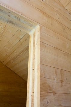Cross-laminated Timber Doorway / Courtesy www.Egoin.com #WoodnWednesday