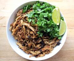 Crispy Carnitas - made in a crock pot. This is the best carnitas recipe out there! YUM.
