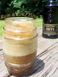 Rum  Coke Float Recipe!