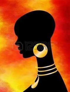 Resultado de imagem para silhueta de negros africanos