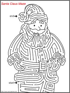 FREE Printable Christmas Mazes - Merry Games