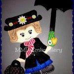 Mary Poppins Overcoat Felt Doll Non Paper doll