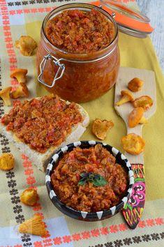 Zacusca de ciuperci - CAIETUL CU RETETE Lidl, Chana Masala, Curry, Ethnic Recipes, Food, Canning, Curries, Essen, Meals