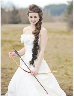 Hunger Games Inspired Wedding Shoot dear future husband: I am so sorry but this is happening.