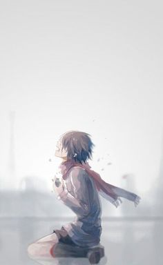 is this from Tokyo Ghoul or Mikasa from SnK? Tokyo Ghoul Fan Art, Ken Tokyo Ghoul, M Anime, Anime Art Girl, Anime Triste, Attack On Titan Anime, Mikasa, Sword Art Online, Avatar