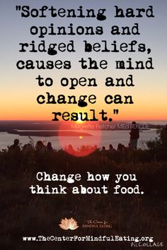 www.TheCenterForMindfulEating.org helps you change how you think about food. #MindfulEating Mindful Eating, You Changed, Cravings, Thinking Of You, Mindfulness, Nutrition, Thoughts, Feelings, Food