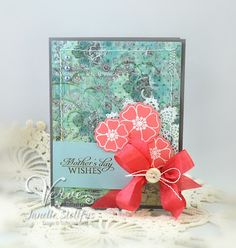 Mother's Day card by Janelle Stollfus using Verve Stamps.  #vervestamps