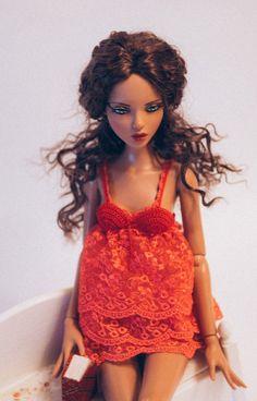 Crochet lace lingerie for Deja Vu Tonner doll от AntejaBoutique