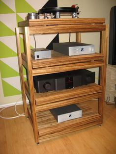 I was thinking about making my own hi-fi support tables. I just wondered if anyone else has. Audio Stand, Audio Rack, Magazine Rack, Furniture Design, Cabinet, The Originals, Storage, Table, Room