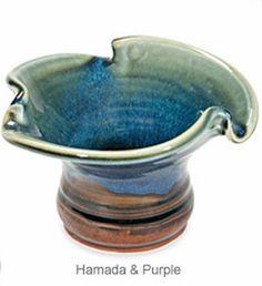 Lotus Ikebana Vase (Hamada & Purple)