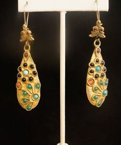 Beautiful goldfilled earrings hand made in Istanbul Turkey 110