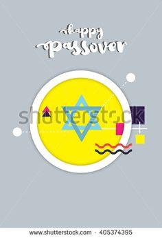 Passover illustration/ poster/ invitation card. EPS10 - stock vector