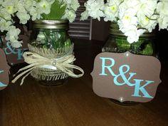 Mason jar wedding decoration