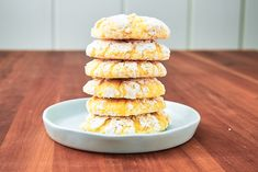 Lemon Butter Cookies Will Light Up Your DayDelish Lemon Butter Cookies Recipe, Lemon Cookies, Yummy Cookies, Xmas Cookies, Cookie Desserts, Just Desserts, Cookie Recipes, Delicious Desserts, Lemon Dessert Recipes