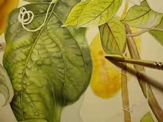 How to paint around Veins of a Leaf in Watercolor - Part 1 - YouTube