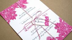 Henna wedding invitation