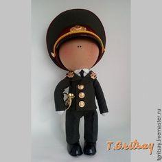 Купить текстильная кукла ручной работы военный - хаки, военный, кукла ручной работы, подарок