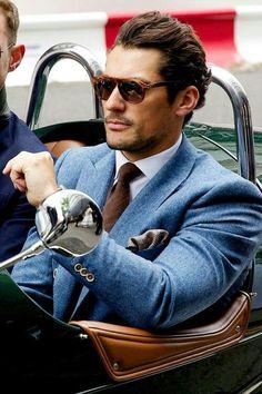Modern Gentleman David Gandy light blue suit in wool Sharp Dressed Man, Well Dressed Men, Fashion Mode, Mens Fashion, Fashion Suits, Fashion Styles, Style Fashion, Fashion Check, Timeless Fashion