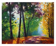 https://flic.kr/p/a5avP5 | Bright Autumn | Original Oil Painting from my Autumn Series www.landscape-paintings-australia.com