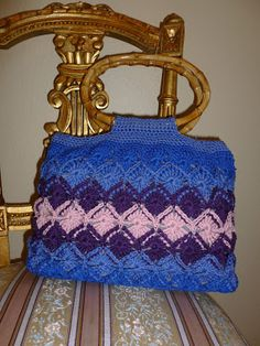 Bavarian Crochet Handbag pattern & Tutorial