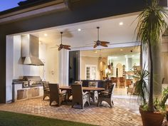 SOLD - Naples Hot Properties - Outdoor Living - Dining - Summer Kitchen - Grill - Tropical Fans