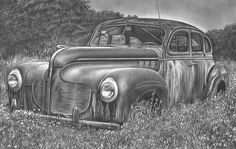 Car by Jerry Winick ~  pencil drawing