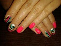 unas aztecas 6 Indian Nails, Lily, Nail Art, Beauty, Beautiful, Maria Jose, Nails Design, Nail Ideas, Hair