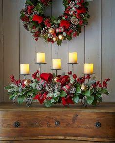 Weihnachtsgestecke Selber Machen Kaminsims