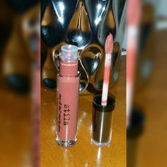 Stila cosmetics lip gloss. Color terracotta.