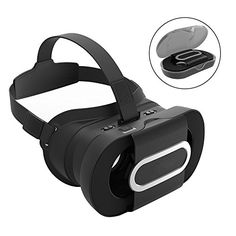 Foldable Pocket VR Glasses with VR Controller, XIAOKOA Portable Virtual Reality Headset Glasses Game Box Adjust Goggles Video Movie for iPhone 7 Plus SE 5 Samsung Galaxy Virtual Reality Goggles, Virtual Reality Headset, Vr Headset, 3d Vr Box, 3d Video, Smartphone, Vr Games, Video Games, New Glasses