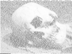 Skull made from Beatle's Lyrics.