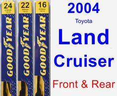 Front & Rear Wiper Blade Pack for 2004 Toyota Land Cruiser - Premium