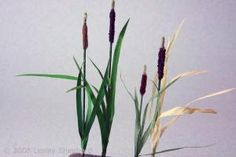 Make Scale Miniature Cattails or Bullrushes: Making Scale Miniature Bullrushes or Cattails for Dolls House or Railroad Scenes