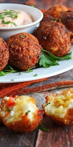 Cheesy Crab Poppers…cornbread brings out the sweetness of the crab and the addition of the bell peppers and cheese gives it all a great balance of flavors. Add chopped jalapeno for a kick of spice and serve with favorite prepared remoulade sauce Finger Food Appetizers, Yummy Appetizers, Appetizers For Party, Appetizer Recipes, Seafood Appetizers, Fingers Food, Crab Recipes, Crescent Rolls, Snacks