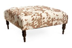 This what I want to do for the Nook area except more cowhide looking. OneKingsLane.com