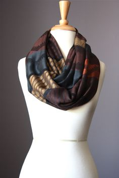Infinity Scarf   light loop tube circle multicolored zig zag. $29.00, via Etsy.