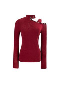 Top rojo hombro al descubierto TERIA YABAR Otoño Invierno 2019 2020 Sweaters, Metal Stars, Purple Lilac, Star Shape, Knit Tops, Full Sleeves, Fall Winter, Blouses, Men