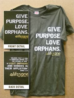100% of the profits goes towards orphan care/adoptions!
