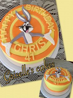 """Bugs bunny cake. You can visit my page on facebook, """"griselle's cakes"""" or follow me on instergram"""