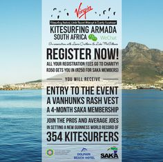 Cape Town Set to Break Guinness World Record for the 'Longest Parade of Kitesurfers' Guinness World, World Records, Cape Town, Fundraising, Charity, Events