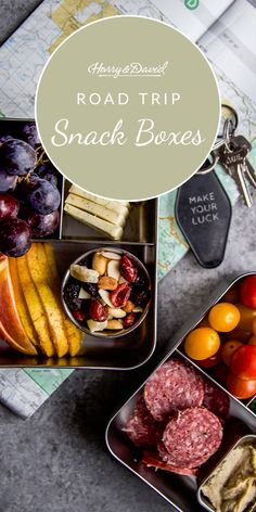 Bring gourmet your next road trip with these easy and delicious snack box with Harry & David fruit, cheese, nuts and much more. Harry And David, Road Trip Snacks, Snack Box, Easy Entertaining, Yummy Snacks, Summertime, Cheese, Make It Yourself, Fruit