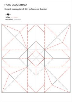 Fiore geometrico - Geometric Flower (Crease Pattern) by Francesco Guarnieri, via Flickr