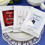 Wrap With Us - Personalized Wedding Gourmet Hot Chocolate Packets Candle Wedding Favors, Beach Wedding Favors, Personalized Wedding Favors, Never Getting Married, Hot Chocolate, Dream Wedding, Wedding Dresses, Gourmet, Bride Dresses